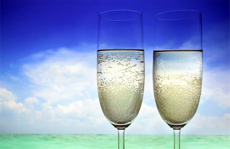 Champagne on the Beach Stock Photo - Budget Royalty-Free & Subscription, Code: 400-04178599