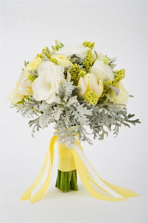 Image of a beautiful floral bouquet on white background Stock Photo - Budget Royalty-Free & Subscription, Code: 400-04170372