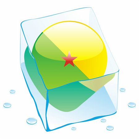 pilgrimartworks - fully editable vector illustration of guyana button flag frozen in ice cube Stock Photo - Budget Royalty-Free & Subscription, Code: 400-04173459