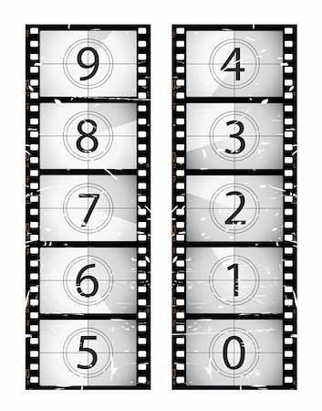 Old film strip countdown.  Please check my portfolio for more film illustrations. Stock Photo - Budget Royalty-Free & Subscription, Code: 400-04173861