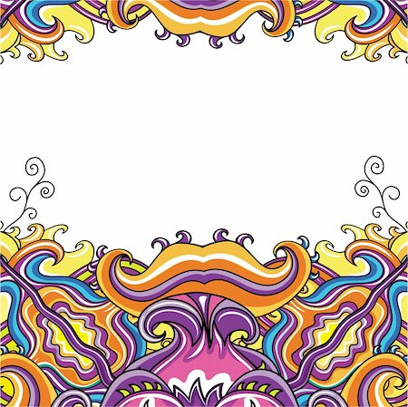 flower clipart paint - Abstract pattern with space for your text. Stock Photo - Budget Royalty-Free & Subscription, Code: 400-04184527