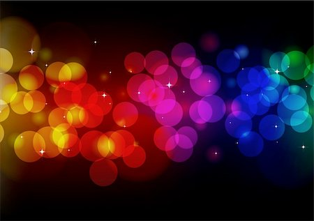 fireworks vector art - Vector illustration of blurred neon disco light dots pattern on black background Stock Photo - Budget Royalty-Free & Subscription, Code: 400-04184638