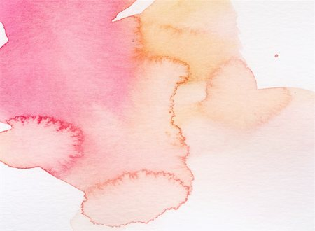 Nice grunge pink texture in watercolor splatters and spills on paper for use as a background or texture Stock Photo - Budget Royalty-Free & Subscription, Code: 400-04180235