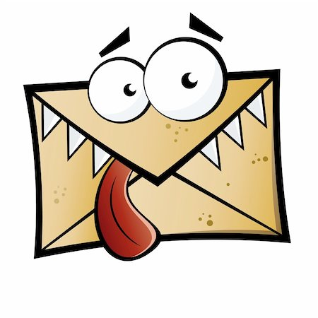 Funny cartoon letter monster Stock Photo - Budget Royalty-Free & Subscription, Code: 400-04180849