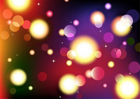 fireworks vector art - Vector illustration of blurred neon disco light dots pattern on dark background Stock Photo - Budget Royalty-Free & Subscription, Code: 400-04196048
