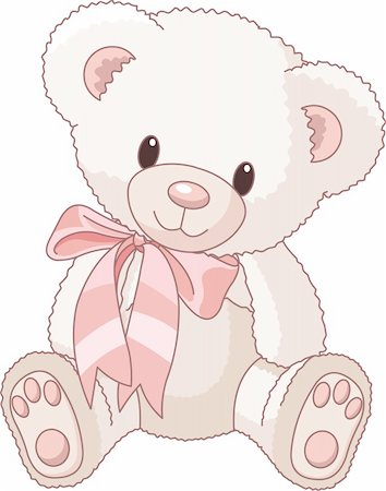 simsearch:400-04598294,k - Illustration of Very Cute Teddy Bear with bow Stock Photo - Budget Royalty-Free & Subscription, Code: 400-04196285