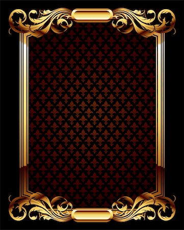 ornate frame, this illustration may be useful as designer work Stock Photo - Budget Royalty-Free & Subscription, Code: 400-04197084