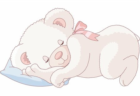 simsearch:400-04598294,k - Illustration of Very Cute sleeping Teddy Bear Stock Photo - Budget Royalty-Free & Subscription, Code: 400-04198175
