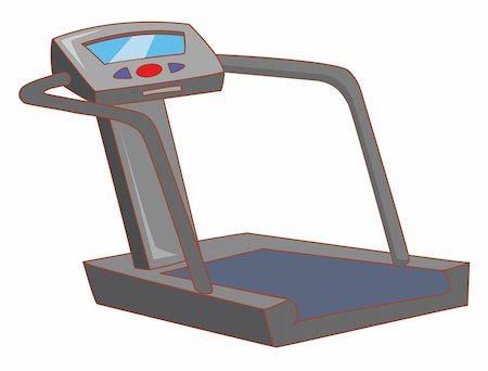 illustration drawing of a treadmill isolate in a white background Stock Photo - Budget Royalty-Free & Subscription, Code: 400-04198353