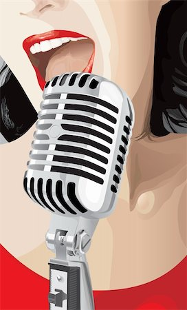 Pop Singer (editable vector or jpeg image) Stock Photo - Budget Royalty-Free & Subscription, Code: 400-04199388