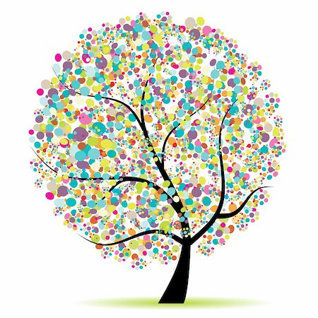 Art tree beautiful for your design Stock Photo - Budget Royalty-Free & Subscription, Code: 400-04199570