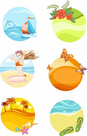 vector illustration of a travel icons set Stock Photo - Budget Royalty-Free & Subscription, Code: 400-04190462