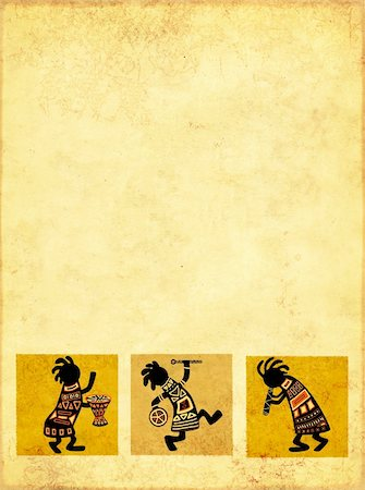 Dancing musicians. African national patterns Stock Photo - Budget Royalty-Free & Subscription, Code: 400-04193667