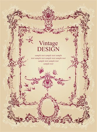 antique frame design; scalable and editable vector illustrations; Stock Photo - Budget Royalty-Free & Subscription, Code: 400-04204760