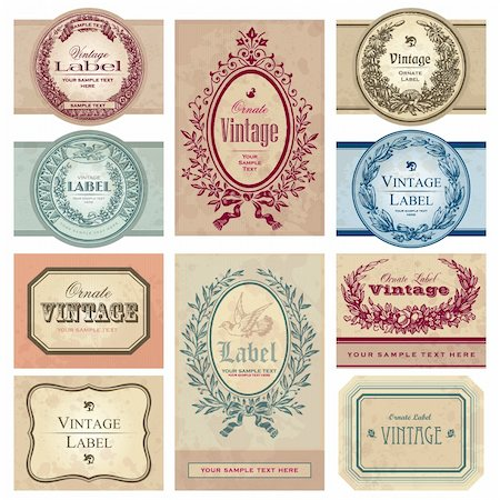 set of vintage labels; scalable and editable vector illustrations; Stock Photo - Budget Royalty-Free & Subscription, Code: 400-04204762