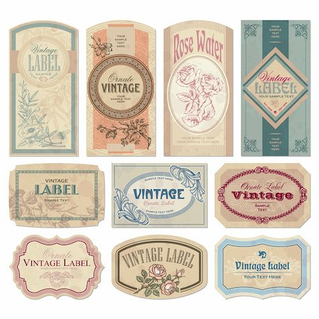 set of vintage labels, scalable and editable vector illustrations; Stock Photo - Budget Royalty-Free & Subscription, Code: 400-04205591
