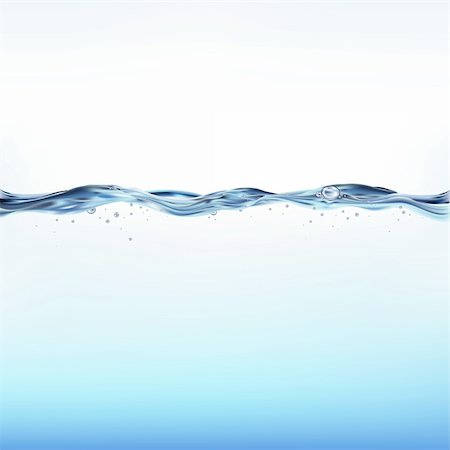 Blue Water Wave, Vector Illustration Stock Photo - Budget Royalty-Free & Subscription, Code: 400-04206541