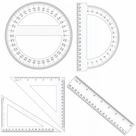 Vector set of different ruler types. Centimeter and inch measurement are at scale. Contains EPS file compatible with Illustrator 10. Stock Photo - Budget Royalty-Free & Subscription, Code: 400-04206563