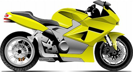 sports scooters - Sketch of modern motorcycle. Vector illustration Stock Photo - Budget Royalty-Free & Subscription, Code: 400-04206642