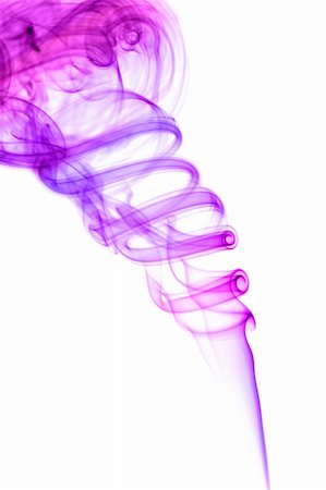 Violet colored smoke isolated on white Stock Photo - Budget Royalty-Free & Subscription, Code: 400-04208445