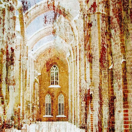 art background ancient architecture In style of an old picture artistic toned picture in retro style Stock Photo - Budget Royalty-Free & Subscription, Code: 400-04209596