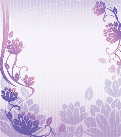 illustration drawing of beautiful purple lotus flower pattern Stock Photo - Budget Royalty-Free & Subscription, Code: 400-04200477