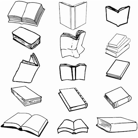 Books on isolated background, vector illustration, EPS file included Stock Photo - Budget Royalty-Free & Subscription, Code: 400-04200880