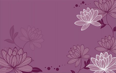simsearch:400-05235216,k - illustration drawing of lotus in a purple background Stock Photo - Budget Royalty-Free & Subscription, Code: 400-04201149