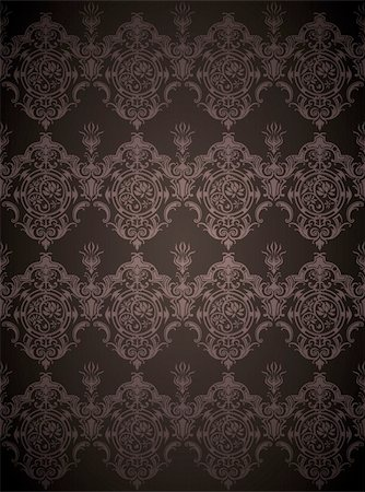 simsearch:400-05235216,k - drawing of seamless flower pattern in a black background Stock Photo - Budget Royalty-Free & Subscription, Code: 400-04201549