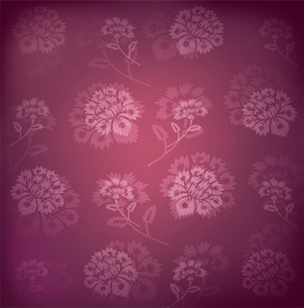 flores - illustration drawing of beautiful purple flower pattern Stock Photo - Budget Royalty-Free & Subscription, Code: 400-04201542