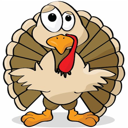 Cartoon illustration of a turkey looking sad Stock Photo - Budget Royalty-Free & Subscription, Code: 400-04214029
