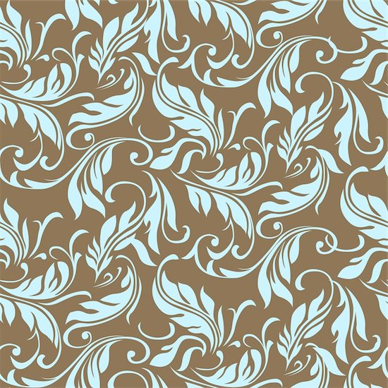 Vector floral ivy pattern. Perfect for invitations and ornate backgrounds.  Pattern is included as seamless swatch. Stock Photo - Royalty-Free, Artist: createfirst, Image code: 400-04215812