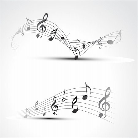 vector music note background illustration Stock Photo - Budget Royalty-Free & Subscription, Code: 400-04217560