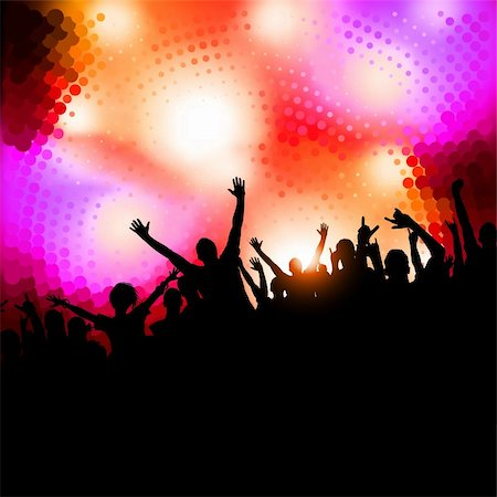 Large crowd of party people - vector background. Stock Photo - Budget Royalty-Free & Subscription, Code: 400-04219014