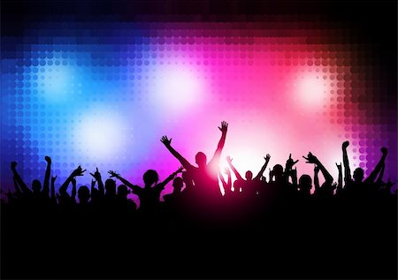 solarseven - New Wave Party People - Large party vector background. Stock Photo - Budget Royalty-Free & Subscription, Code: 400-04219013