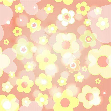 simsearch:400-04744132,k - Seamless tile-able flower background - vector wrapping paper pattern Stock Photo - Budget Royalty-Free & Subscription, Code: 400-04219388