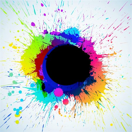 paint dripping graphic - Colorful bright ink splashes with place for text Stock Photo - Budget Royalty-Free & Subscription, Code: 400-04219635