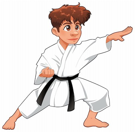 Baby Karate Player. Vector cartoon isolated character Stock Photo - Budget Royalty-Free & Subscription, Code: 400-04219961