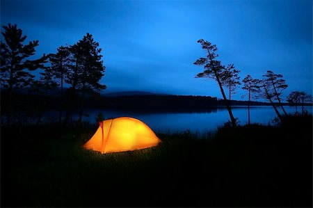 A tent lit up at dusk Stock Photo - Budget Royalty-Free & Subscription, Code: 400-04211208