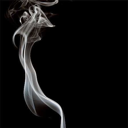 smoke magic abstract - The abstract figure of the smoke on a black background Stock Photo - Budget Royalty-Free & Subscription, Code: 400-04212730