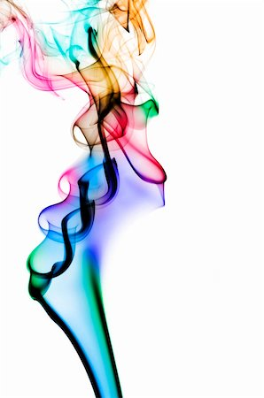 rainbow smoke background - colored smoke isolated on a white background Stock Photo - Budget Royalty-Free & Subscription, Code: 400-04213669