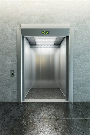 modern elevator with open doors Stock Photo - Budget Royalty-Free & Subscription, Code: 400-04225247