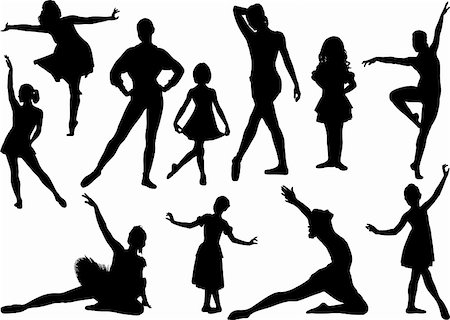 pretty in black clipart - Ballet silhouette Stock Photo - Budget Royalty-Free & Subscription, Code: 400-04227511