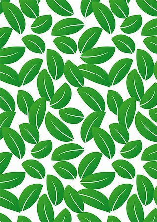 seamless floral - Seamless green leaf background - vector include pattern source - easy to modify Stock Photo - Budget Royalty-Free & Subscription, Code: 400-04227687