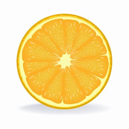 illustration of slice of orange on isolated background Stock Photo - Budget Royalty-Free & Subscription, Code: 400-04227915