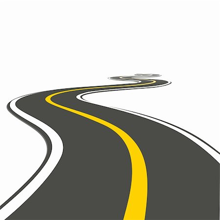 illustration of roadway on isolated background Stock Photo - Budget Royalty-Free & Subscription, Code: 400-04228845