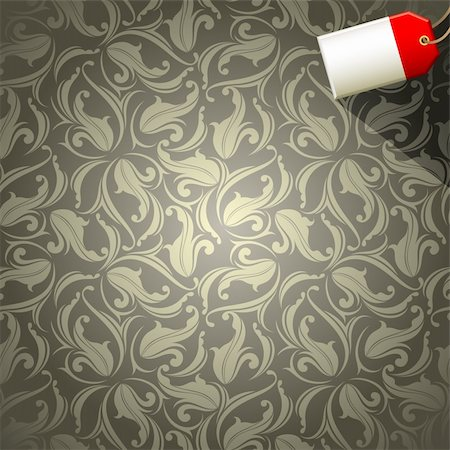 floral background with tag,  this illustration may be useful as designer work Stock Photo - Budget Royalty-Free & Subscription, Code: 400-04229509