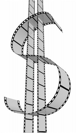 film strip - 3d Film Strip. White background. Digitally Generated. Stock Photo - Budget Royalty-Free & Subscription, Code: 400-04223021