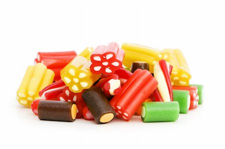 simsearch:400-04344039,k - Colourful sweets isolated on the white background Stock Photo - Budget Royalty-Free & Subscription, Code: 400-04234639