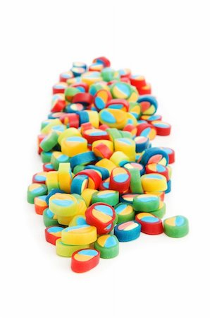 simsearch:400-04344039,k - Colourful sweets isolated on the white background Stock Photo - Budget Royalty-Free & Subscription, Code: 400-04234647